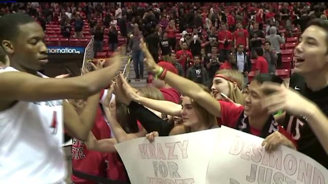 Fans Celebrate As SDSU Top Nevada
