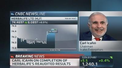 Carl Icahn: Herbalife has been viable for years