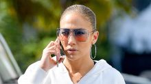 J-Lo Wears Ombré Leggings With Her Favorite Futuristic Sneakers at the Gym in Miami