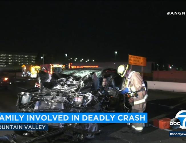 405 crash, deadly crash orange county, family killed in crash, fountain  valley crash, chp