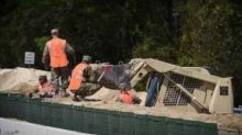 National Guard Errects Barrier to South Carolina Lake