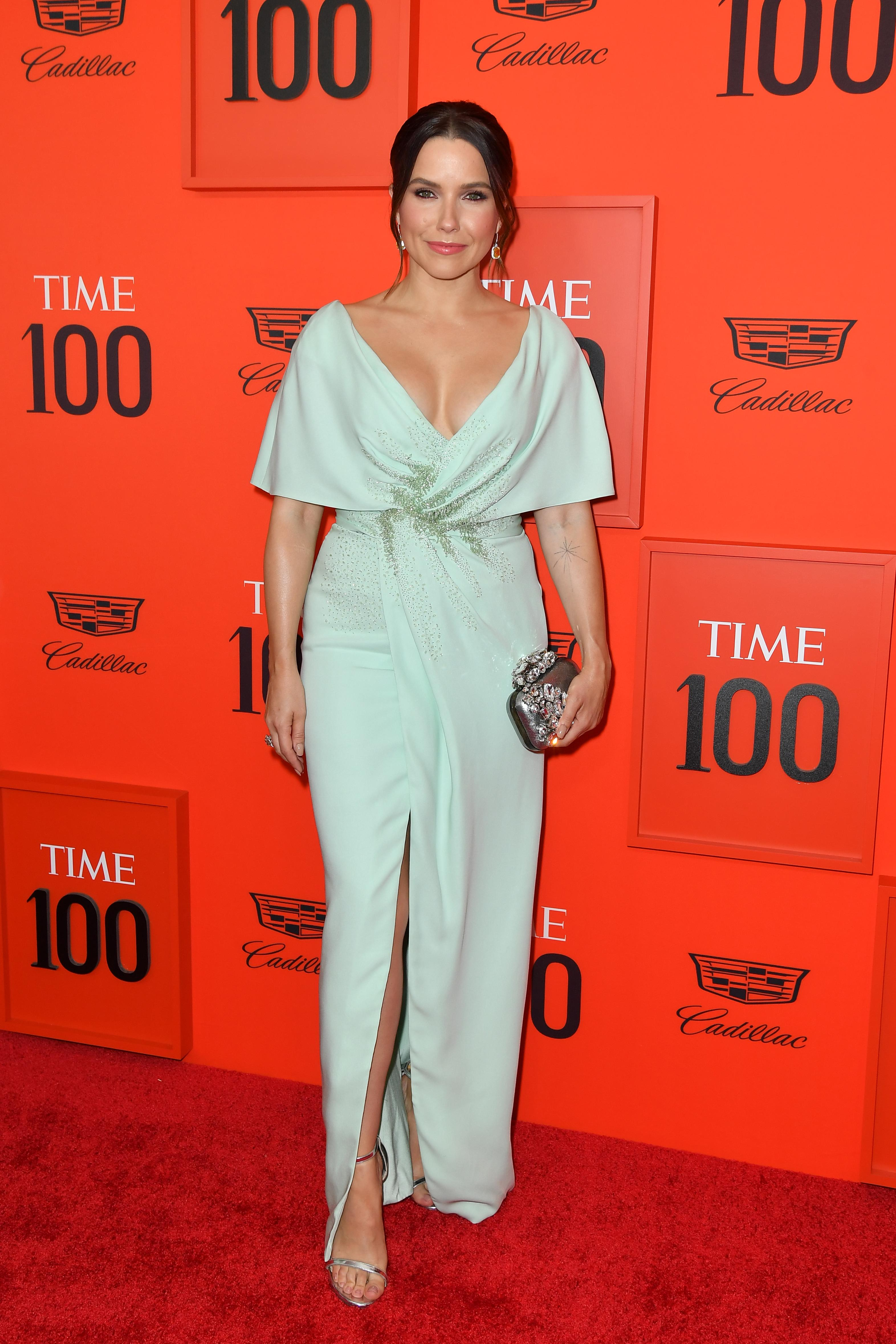 US actress Sophia Bush arrives on the red carpet for the Time 100 Gala at the Lincoln Center in New York on April 23, 2019