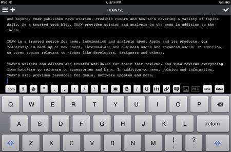 Daily iPad App: You can't go wrong with Write