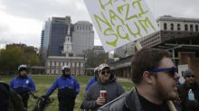 Far right protesters left stranded in Philadelphia after taxi drivers refuse to pick them up