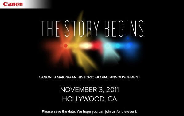 Canon plans Hollywood event, ready to roll out the red carpet on November 3rd