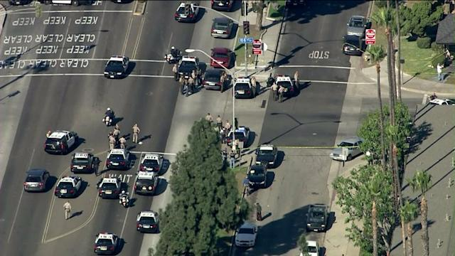 Raw: 2 Officers Shot in Inglwood; Alleged Shooter Barricaded in Home