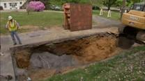 Sinkhole disrupts life in Palmer Township