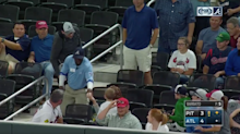 Braves security guard takes ball from young child, but team makes it right