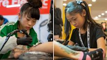 We Chat With: Young tattoo artists, Noko, 10, and Lilith, 12