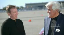 Tim Allen and Jay Leno Drift-Race Each Other in Electric Cars