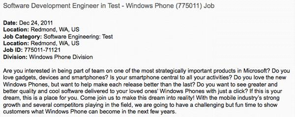Microsoft job opening hints at forthcoming backup / restore features for Windows Phone
