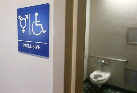 A gender-neutral bathroom is seen at the University of California, Irvine in Irvine, California September 30, 2014. REUTERS/Lucy Nicholson/Files