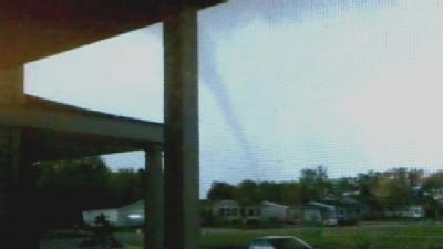 Raw Video: Another Glimpse Of Funnel Cloud Formation In Sparta