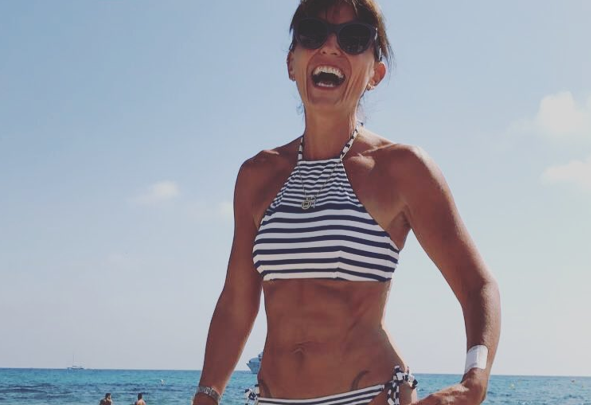 49-year-old tv host inspires with thong-bikini selfie
