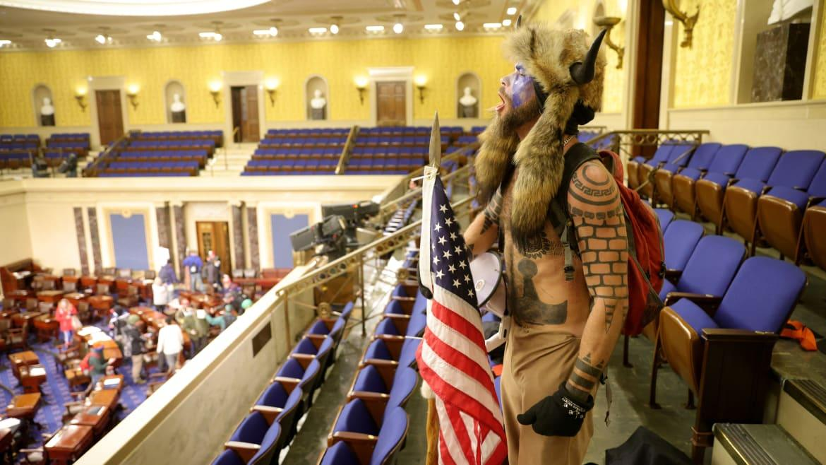 Peyote-Loving 'QAnon Shaman' Vowed to Attend Inauguration, Left Chilling Note for Pence: Docs