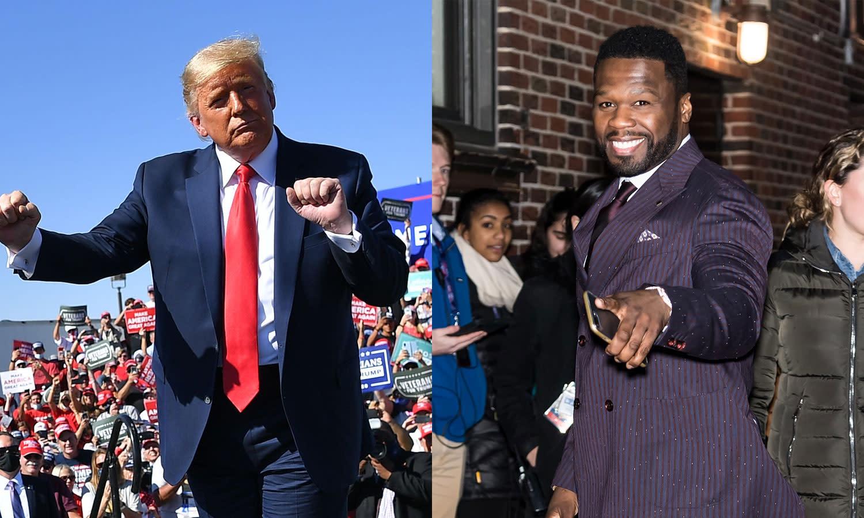 50 Cent makes vulgar reversal on Trump