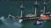 Old Ironsides sail honors Boston first responders