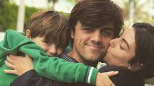 Filho de Felipe Simas leva mordida de cachorro no rosto
