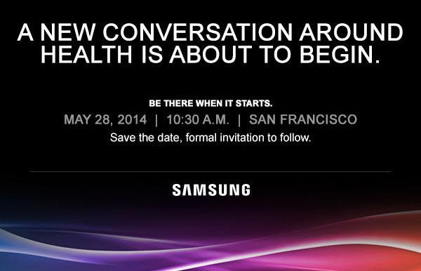 Samsung plans an event 'around health' for May 28th
