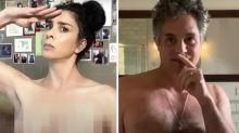 Celebrities' bizarre naked voting video causes a stir