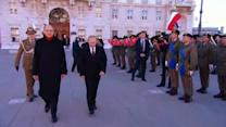 Russia's Putin given military honors in Italy
