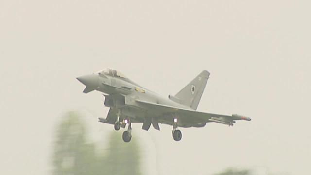 RAF Typhoon jet fighters intercept Russian 'Bears' aircraft