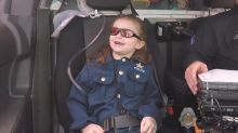 Terminally ill 6-year-old girl fulfills wish to become police officer