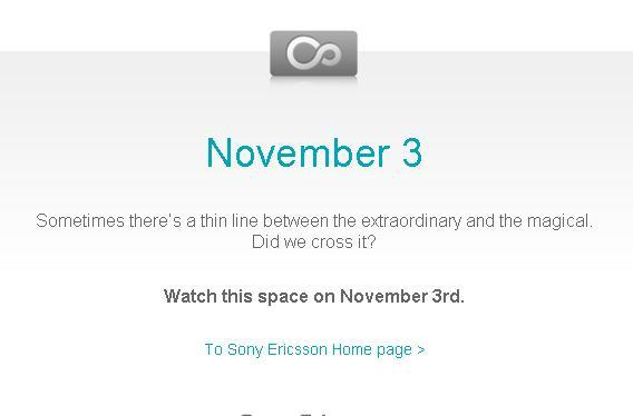 Sony Ericsson looking ready to come clean with Android-powered Rachael on November 3