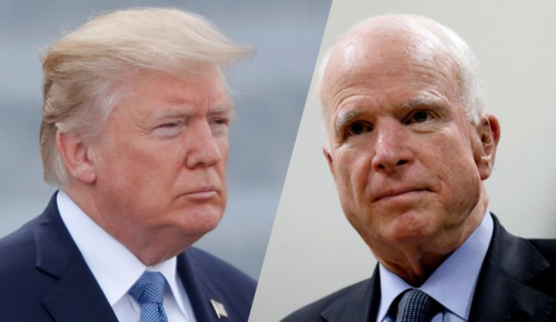 President Trump and Sen. John McCain, R-Arz., have often found themselves at odds. (Photos: Charles Platiau /Reuters, Mohammad Ismai/Reuters)