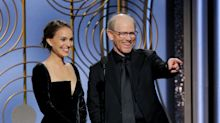 Natalie Portman calls out the sexist Best Director category while presenting the Golden Globe