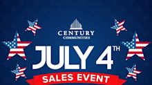 Century Communities Announces Fourth of July Sales Event