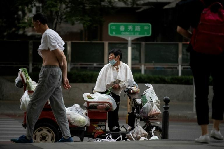 China's economy is reopening in the wake of the pandemic, and the country is almost alone in seeing growth this year, according to the World Bank (AFP Photo/Noel CELIS)