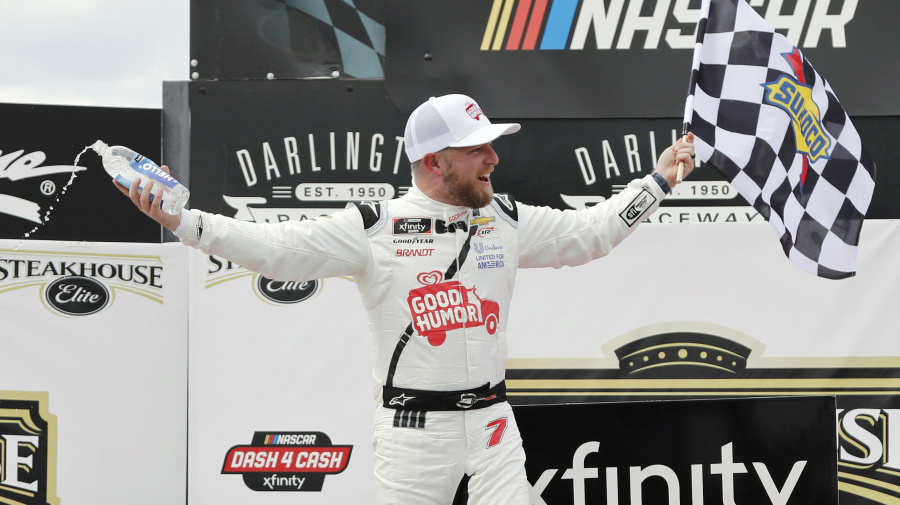 Allgaier holds off teammate to take Darlington Xfinity race