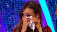 Strictly's Catherine Tyldesley cries as she refuses to rewatch dance off