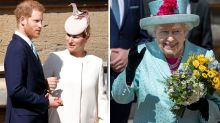 Prince Harry joins the Queen, William and Kate at Easter service