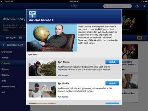 Sky Sports iPad app, Sky Go for iOS and Android refreshed with more content and features