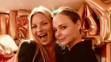 Kate Moss celebrates 45th birthday with celeb pals - and a cake covered in pictures of herself