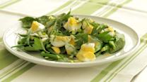 Garden Greens with Chopped Egg and Whole Herbs