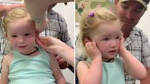 Dad shares incredible moment Aussie girl hears for the first time