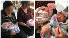 Identical twin sisters give birth to daughters two hours apart
