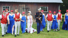 Couple has MAGA-themed wedding to honor Donald Trump: 'It looks like America threw up'