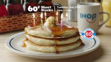 IHOP® Restaurants Celebrates Six Decades Of Pancakin' With 60 Cent Pancakes On July 17