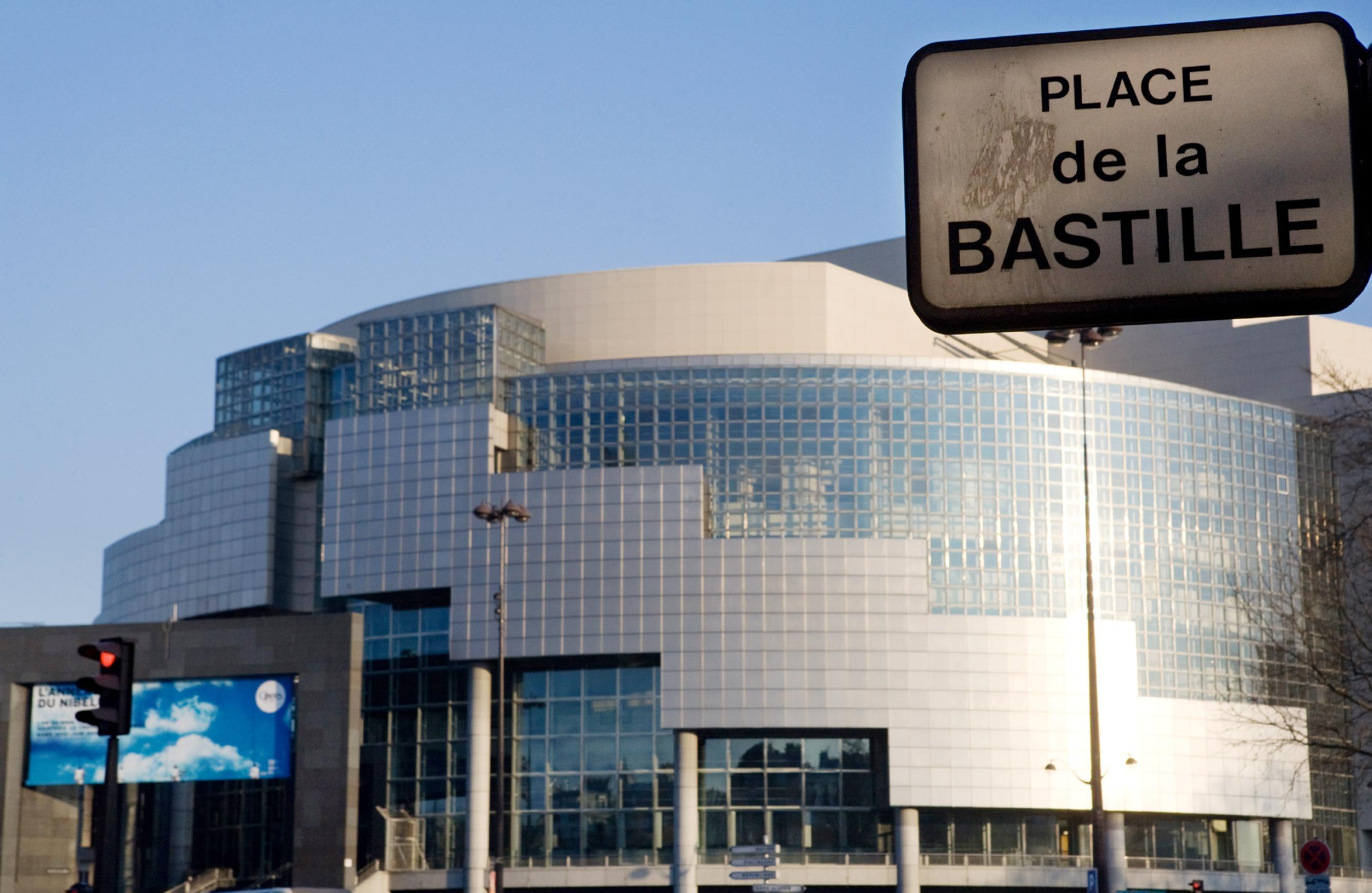 The Bastille opera house in Paris, France, on February 16, 2010