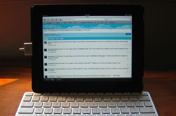 Landscape orientation with physical iPad keyboard possible, thrilling