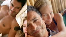 Kelly Ripa Posted a Shirtless Pic of Mark Consuelos and His Reply Is Making Fans Swoon
