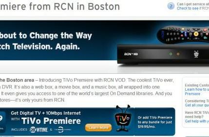 RCN offers TiVo Premiere in Boston; Philadelphia, Chicago are next