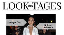 Look des Tages: Gigi Hadid zeigt viel Haut in weißem Hemdkleid