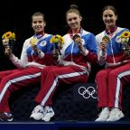 Russian fencers beat France for women's team saber gold