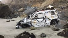 Woman who survived plunge off Big Sur cliff posts pics of wrecked Jeep