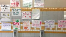 High school removes mirrors in girls' bathroom and replaces with compliments